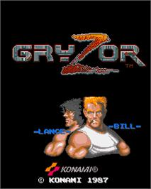 Title screen of Gryzor on the Arcade.