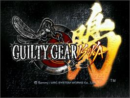 Title screen of Guilty Gear Isuka on the Arcade.