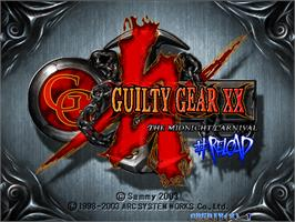 Title screen of Guilty Gear XX #Reload on the Arcade.