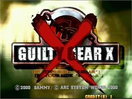 Title screen of Guilty Gear X on the Arcade.