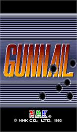 Title screen of GunNail on the Arcade.