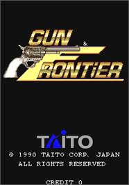 Title screen of Gun & Frontier on the Arcade.