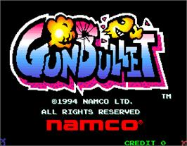 Title screen of Gun Bullet on the Arcade.