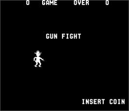 Title screen of Gun Fight on the Arcade.