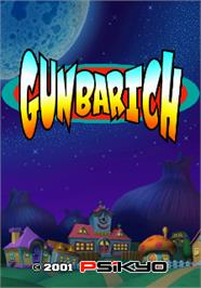 Title screen of Gunbarich on the Arcade.