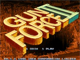 Title screen of Gunforce 2 on the Arcade.