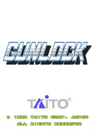 Title screen of Gunlock on the Arcade.