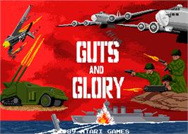 Title screen of Guts n' Glory on the Arcade.