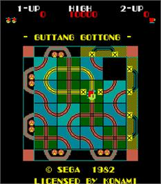 Title screen of Guttang Gottong on the Arcade.