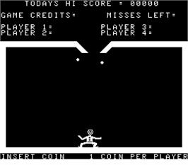 Title screen of Gypsy Juggler on the Arcade.