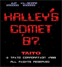 Title screen of Halley's Comet '87 on the Arcade.