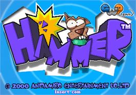 Title screen of Hammer on the Arcade.