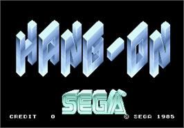 Title screen of Hang-On on the Arcade.