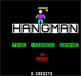 Title screen of Hangman on the Arcade.
