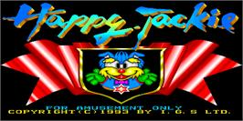 Title screen of Happy Jackie on the Arcade.