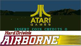 Title screen of Hard Drivin's Airborne on the Arcade.