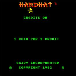 Title screen of Hard Hat on the Arcade.