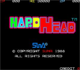 Title screen of Hard Head on the Arcade.