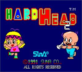 Title screen of Hard Head 2 on the Arcade.
