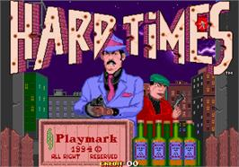 Title screen of Hard Times on the Arcade.