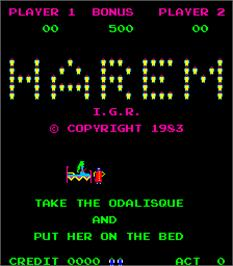 Title screen of Harem on the Arcade.