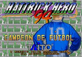 Title screen of Hat Trick Hero '94 on the Arcade.