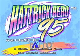 Title screen of Hat Trick Hero '95 on the Arcade.