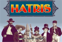 Title screen of Hatris on the Arcade.