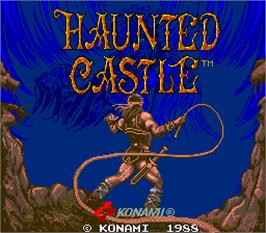 Title screen of Haunted Castle on the Arcade.