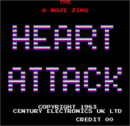 Title screen of Heart Attack on the Arcade.