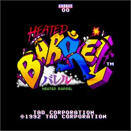 Title screen of Heated Barrel on the Arcade.