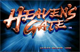 Title screen of Heaven's Gate on the Arcade.