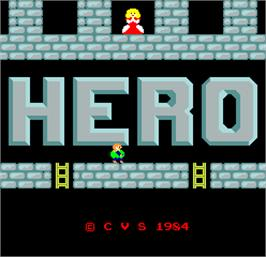 Title screen of Hero on the Arcade.
