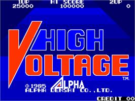 Title screen of High Voltage on the Arcade.