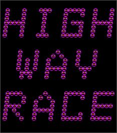 Title screen of High Way Race on the Arcade.