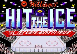 Title screen of Hit the Ice on the Arcade.