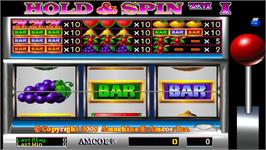 Title screen of Hold & Spin I on the Arcade.