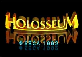 Title screen of Holosseum on the Arcade.