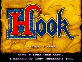 Title screen of Hook on the Arcade.