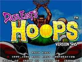 Title screen of Hoops '96 on the Arcade.