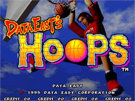 Title screen of Hoops on the Arcade.