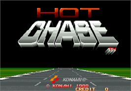 Title screen of Hot Chase on the Arcade.