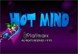 Title screen of Hot Mind on the Arcade.