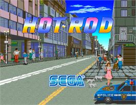 Title screen of Hot Rod on the Arcade.