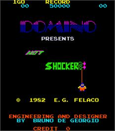 Title screen of Hot Shocker on the Arcade.