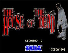 Title screen of House of the Dead on the Arcade.