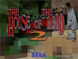Title screen of House of the Dead 2 on the Arcade.