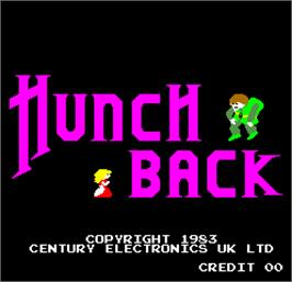 Title screen of Hunchback on the Arcade.