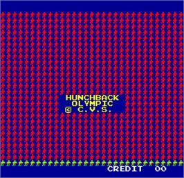 Title screen of Hunchback Olympic on the Arcade.