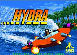 Title screen of Hydra on the Arcade.